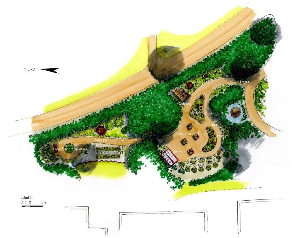 Plan jardin de soins Chaumont